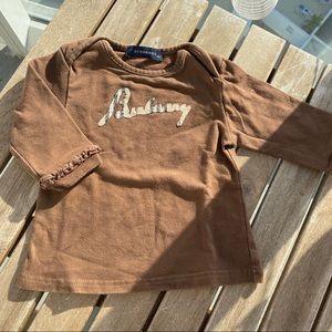 Shirt girl 3 / 6 months long sleeves Burberry